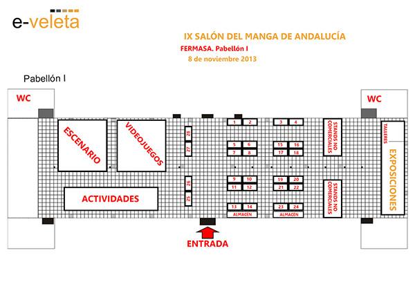 Plano Salon del Manga de Andalucia