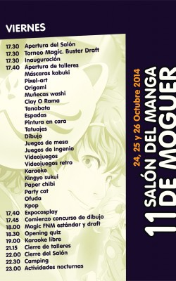 Horario Viernes Moguer 2014